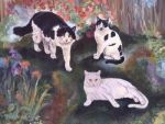 Bogart, Dottie and Lilly were  three beautiful cats, each with their own personality