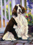 Dog Painting by Connie Bowen of Gracie, a stunning English Springer Spaniel. English Springer Spaniels are so regal!